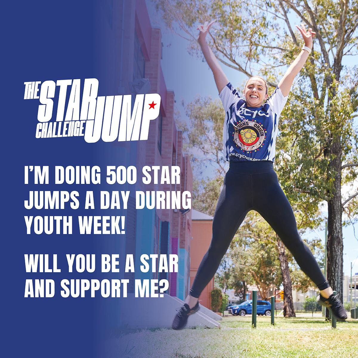 Social Tile 12 - Support - 500 Star Jumps