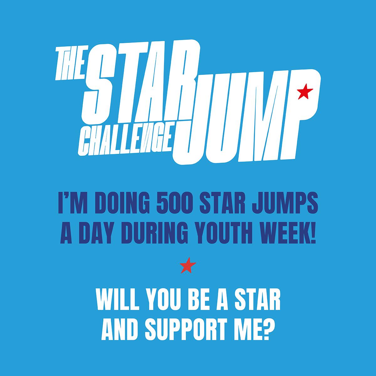 Social Tile 11 - Support - 500 Star Jumps
