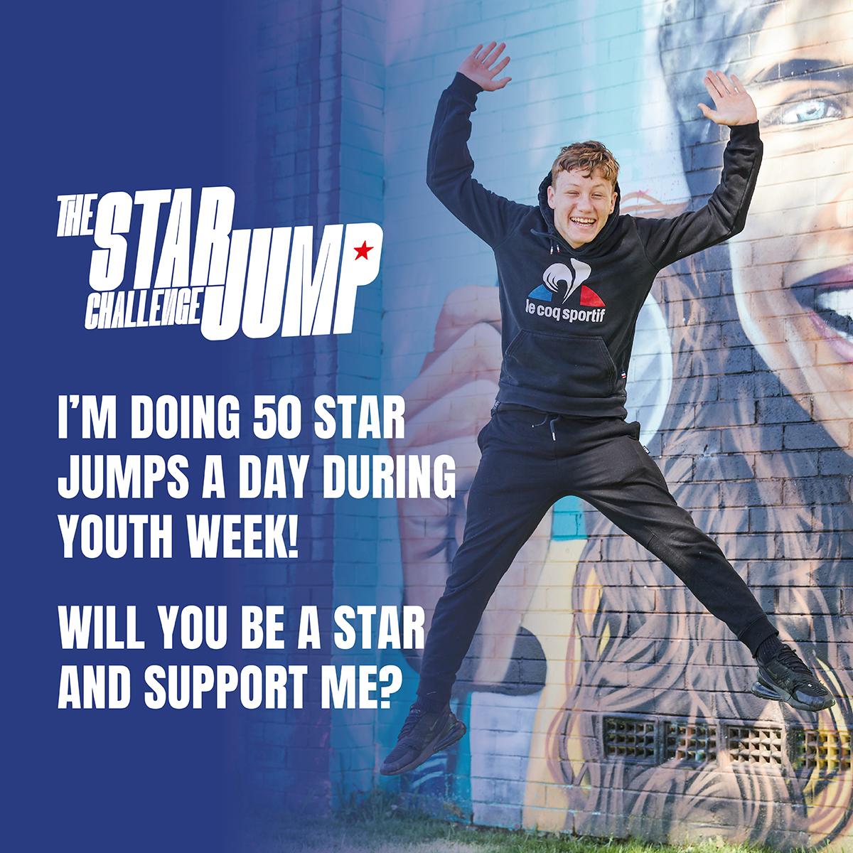 Social Tile 8 - Support - 50 Star Jumps